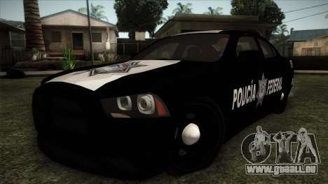 Dodge Charger 2013 Policia Federal Mexico für GTA San Andreas