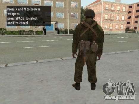 Les soldats de l'armée rouge dans l'armure pour GTA San Andreas sixième écran