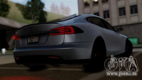 Tesla Model S 2014 pour GTA San Andreas laissé vue