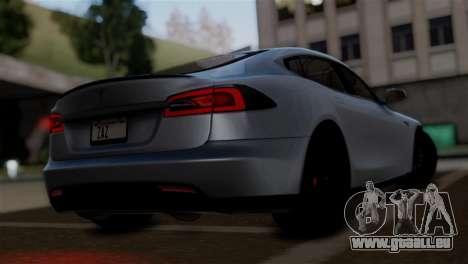 Tesla Model S 2014 für GTA San Andreas linke Ansicht