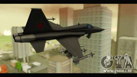Northrop F-5E Top Gun pour GTA San Andreas laissé vue