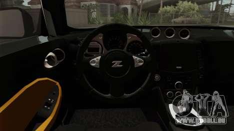 Nissan 370Z Nismo für GTA San Andreas Rückansicht