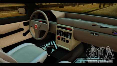 Fiat Uno Fire Mille für GTA San Andreas zurück linke Ansicht