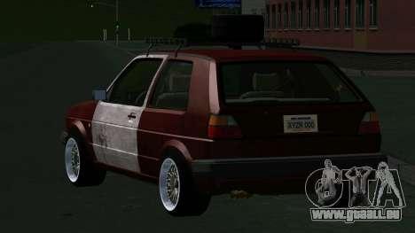 Volkswagen Golf II Rat Style pour GTA San Andreas sur la vue arrière gauche
