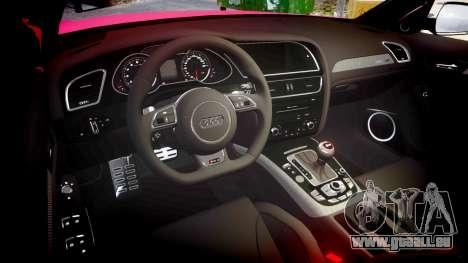 Audi S4 Avant 2013 für GTA 4 Innenansicht