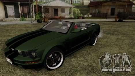 Ford Mustang Boss Cabriolet 2005 für GTA San Andreas
