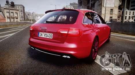 Audi S4 Avant 2013 für GTA 4 hinten links Ansicht