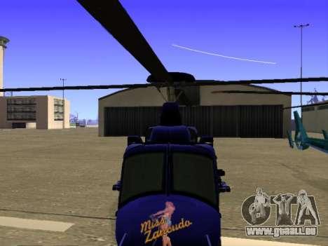 GTA 5 Valkyrie pour GTA San Andreas vue de dessous