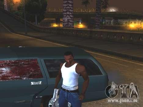 Du sang sur les vitres de la voiture pour GTA San Andreas deuxième écran