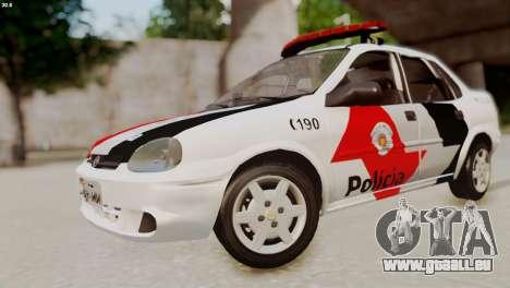 Chevrolet Corsa 2000 PMESP pour GTA San Andreas