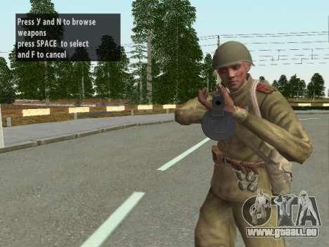 Les soldats de l'armée rouge dans le casque pour GTA San Andreas troisième écran