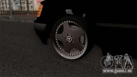 Mercedes-Benz W124 pour GTA San Andreas sur la vue arrière gauche