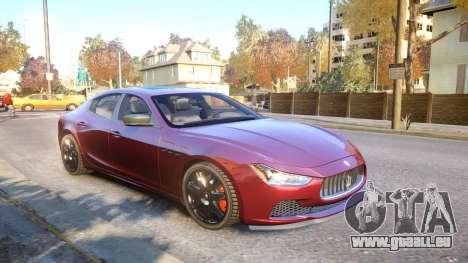 Maserati Ghibli 2014 v1.0 für GTA 4 Seitenansicht