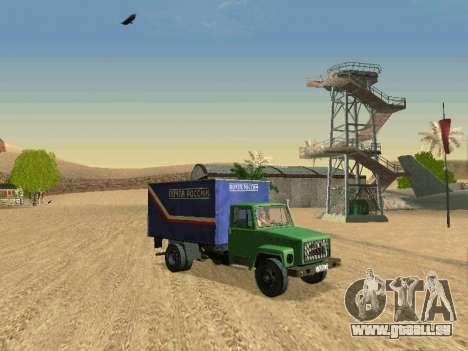 GAZ 3309 für GTA San Andreas Unteransicht