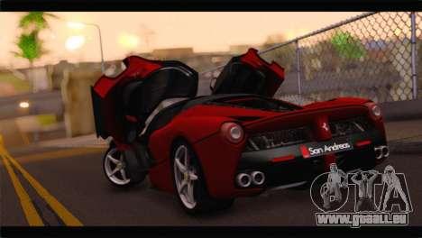 Ferrari LaFerrari 2014 pour GTA San Andreas laissé vue