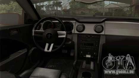 Ford Mustang Boss Cabriolet 2005 für GTA San Andreas rechten Ansicht