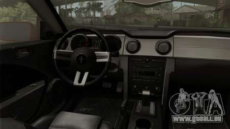 Ford Mustang Boss Cabriolet 2005 pour GTA San Andreas vue de droite