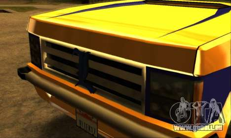 Luni Huntley pour GTA San Andreas vue de dessous