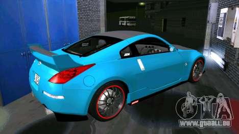 Nissan 350Z für GTA San Andreas Rückansicht