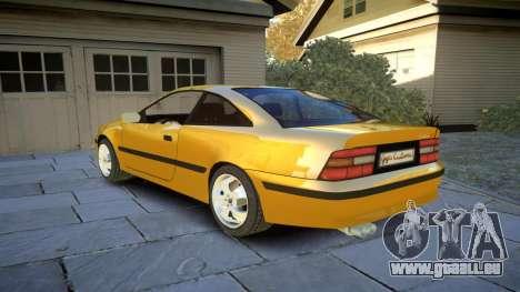 Opel Calibra v2 pour GTA 4 Vue arrière de la gauche