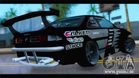 Nissan Silvia S14 Zenki Falken pour GTA San Andreas laissé vue