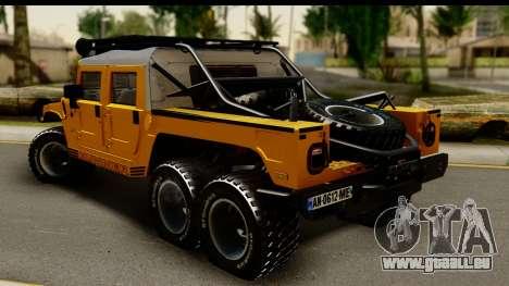 Hummer H1 6-Wheel pour GTA San Andreas laissé vue