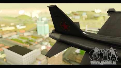 Northrop F-5E Top Gun pour GTA San Andreas sur la vue arrière gauche