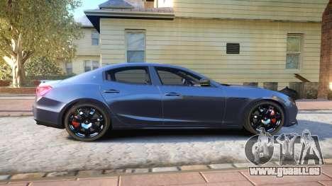 Maserati Ghibli 2014 v1.0 für GTA 4 Rückansicht