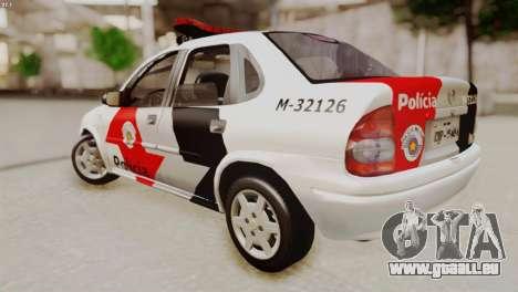 Chevrolet Corsa 2000 PMESP pour GTA San Andreas laissé vue