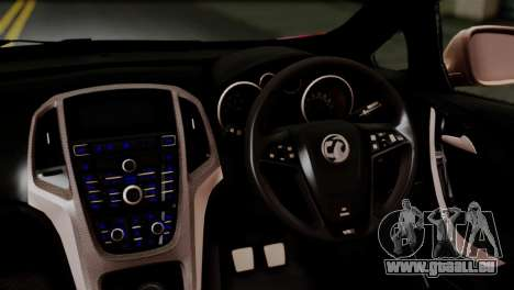 Vauxhall Astra VXR 2012 Itasha pour GTA San Andreas vue arrière
