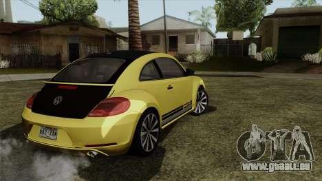 Volkswagen New Beetle 2014 GSR pour GTA San Andreas laissé vue