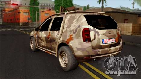 Dacia Duster Army Skin 4 für GTA San Andreas linke Ansicht