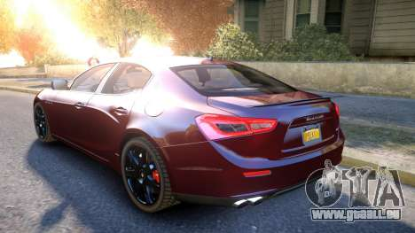 Maserati Ghibli 2014 v1.0 für GTA 4 hinten links Ansicht