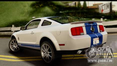 Ford Mustang Shelby GT500KR für GTA San Andreas linke Ansicht
