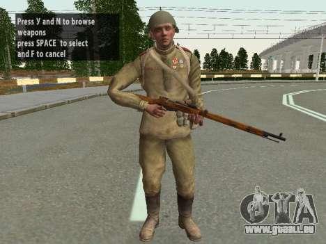 Les soldats de l'armée rouge dans le casque pour GTA San Andreas cinquième écran