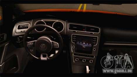 Volkswagen Golf GTI 2014 pour GTA San Andreas vue de droite