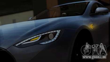 Tesla Model S 2014 für GTA San Andreas Rückansicht
