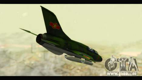 Mikoyan-Gurevich MIG-21UM Vietnam Air Force v2.0 pour GTA San Andreas laissé vue