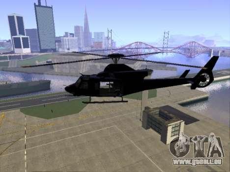 GTA 5 Valkyrie für GTA San Andreas Rückansicht
