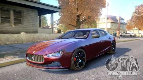 Maserati Ghibli 2014 v1.0 für GTA 4 Innenansicht