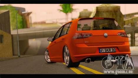 Volkswagen Golf GTI 2014 pour GTA San Andreas laissé vue