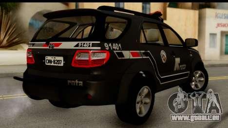 Toyota Hilux SW4 2009 ROTA pour GTA San Andreas laissé vue