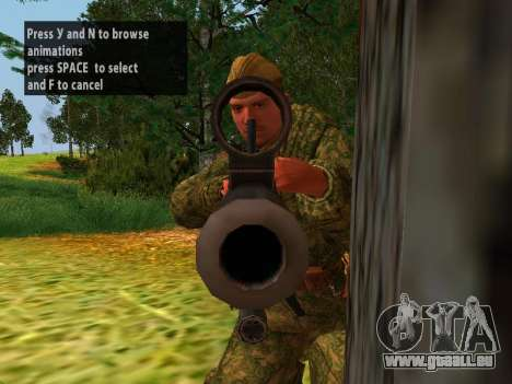 Les soldats de l'armée rouge pour GTA San Andreas cinquième écran