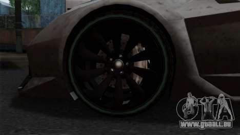 GTA 5 Pegassi Zentorno SA Style pour GTA San Andreas sur la vue arrière gauche