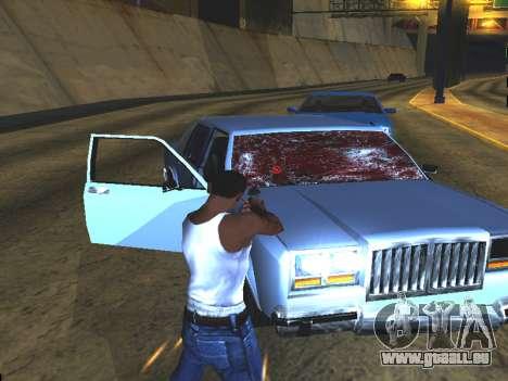 Du sang sur les vitres de la voiture pour GTA San Andreas quatrième écran