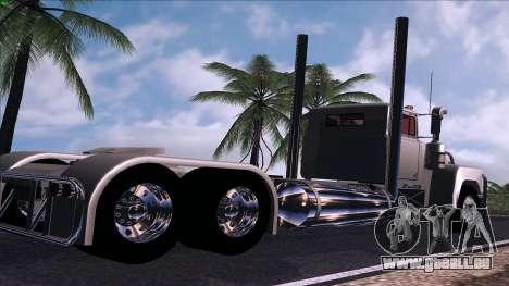 Mack RS700 Custom pour GTA San Andreas sur la vue arrière gauche