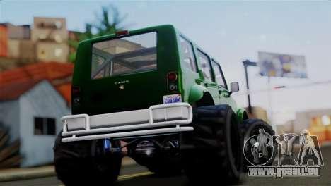 GTA 5 Canis Mesa Merryweather IVF pour GTA San Andreas sur la vue arrière gauche
