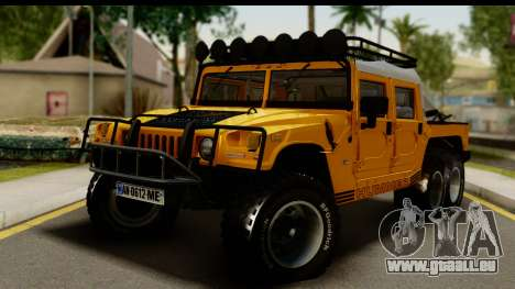 Hummer H1 6-Wheel pour GTA San Andreas