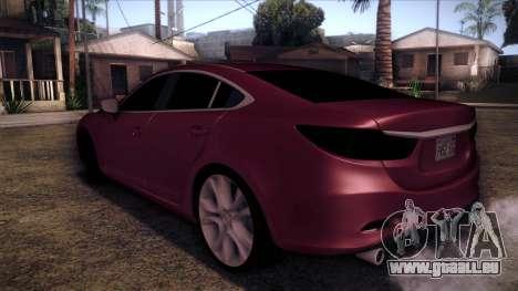 Mazda 6 2013 HD v0.8 beta pour GTA San Andreas laissé vue