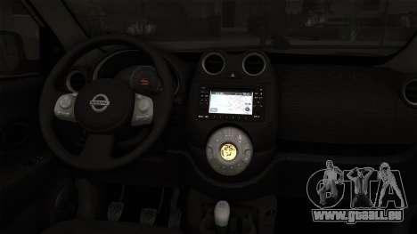 Nissan Micra Taxi DF 2012 pour GTA San Andreas sur la vue arrière gauche